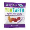 YumEarth, وجبات فواكه عضوية خفيفة، النكهات المفضلة، 43 كيسًا، 0.7 أونصة (19.8 جم) لكل كيس