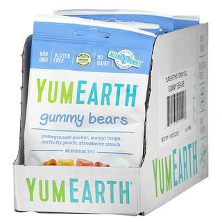YumEarth, 小熊軟糖,什錦味,12 袋裝,2.5 盎司(71 克)/ 袋