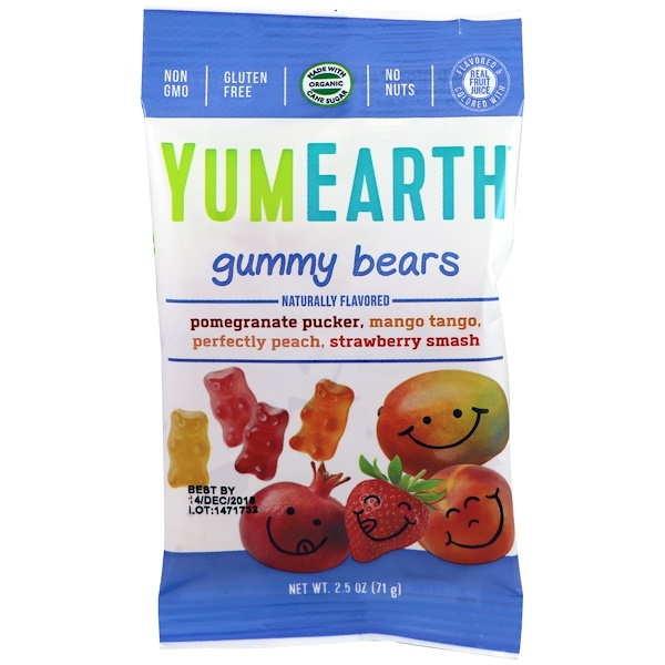 Gummy Bears, Assorted Flavors, 12 Packs, 2.5 oz (71 g) Each