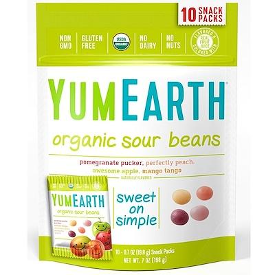 Купить Organic Sour Beans, 10 Snack Packs, 0.7 oz (19.8 g) Each