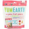 Органические фруктовые снеки, тропические фрукты, 5упаковок, 17,6г в каждой