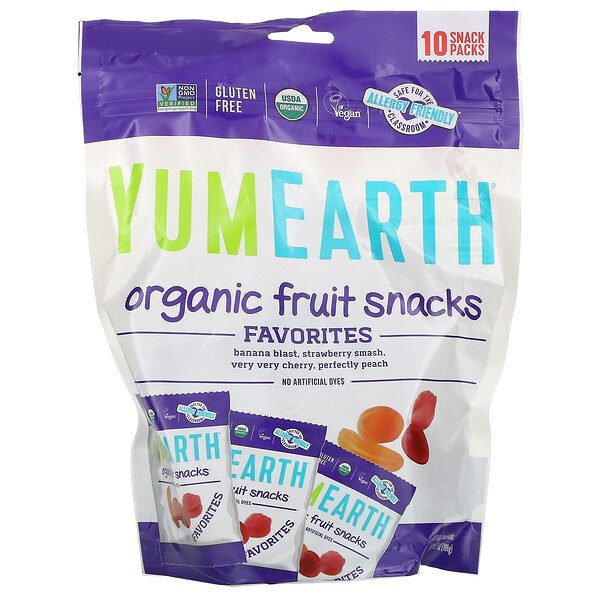 Organic Fruit Snacks, Original , 10 Packs, 0.7 oz (19.8 g) Each