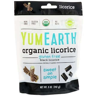YumEarth, Organic Licorice, Black, 5 oz (142 g)