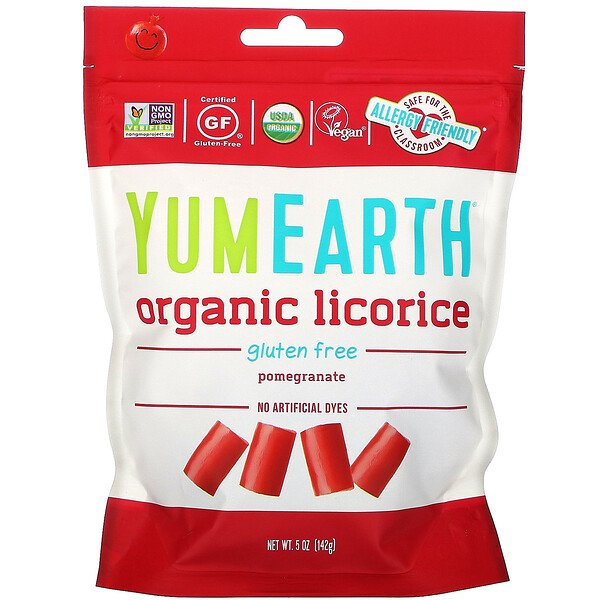 Organic Licorice, Pomegranate, 5 oz (142 g)