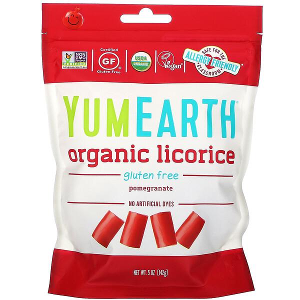 عرق سوس الرمّان الليّن المأكل الخالي من الجلوتين من + Yum، 5 أوقية (142 غم)