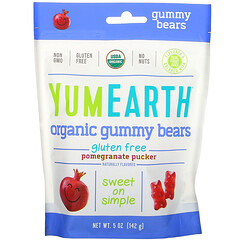 YumEarth, Gummy Bears, Pomegranate Pucker, 5 oz (142 g)
