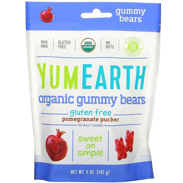 Gummy Bears, Pomegranate Pucker, 5 oz (142 g)