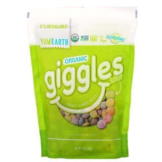 YumEarth, Organic Giggles, органические конфеты, кислые, 142г (5унций)