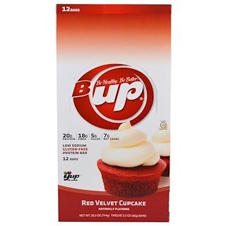YUP, B UP Protein Bar, Red Velvet Cupcake, 12 Bars, 2.2 oz (62 g) Each