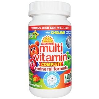 Yum-V's, Multivitamin Complete + Mineral Formula, Fruit Flavors, 60 Jelly Bears