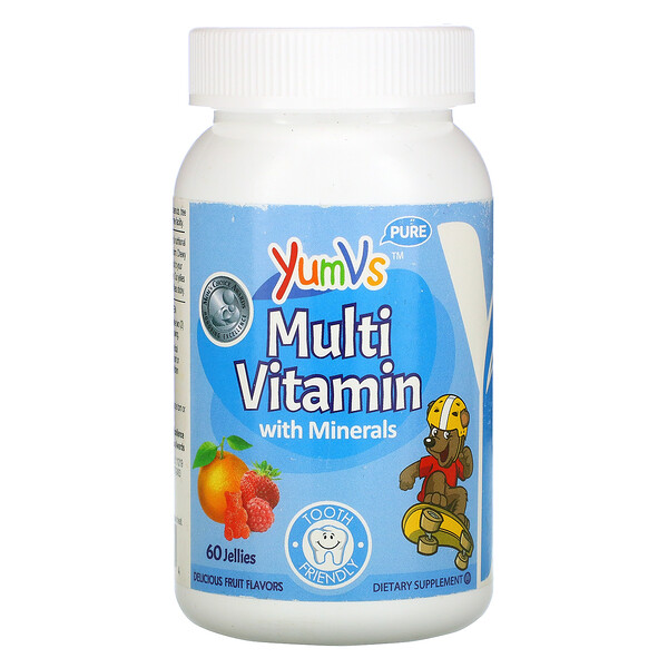 Multi Vitamin with Minerals, Delicious Fruit Flavors, 60 Jellies
