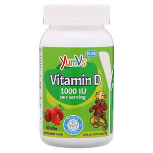 Ям Вис, Vitamin D, Delicious Berry Flavor, 1,000 IU, 60 Jellies отзывы покупателей