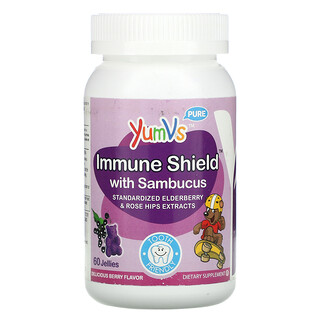 YumV's, Immune Shield with Sambucus, Berry, 60 Jellies