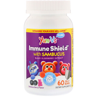 Yum-V's, Immune Shield With Sambucus, Yummy Berry Flavor, 60 Jelly Bears