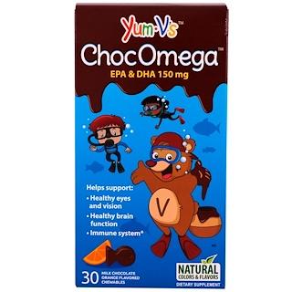 Yum-V's, ChocOmega, Milk Chocolate Orange Flavor, 30 Chewables