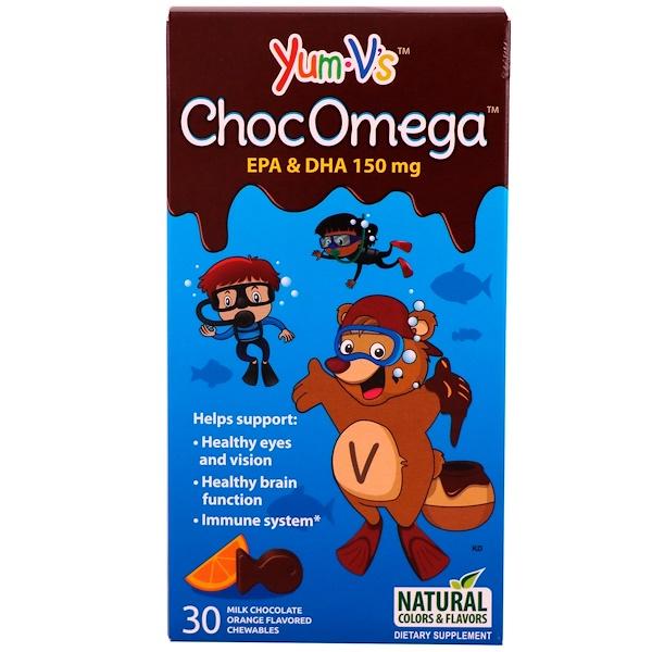 YumV's, ChocOmega, Milk Chocolate Orange Flavor, 30 Chewables (Discontinued Item)