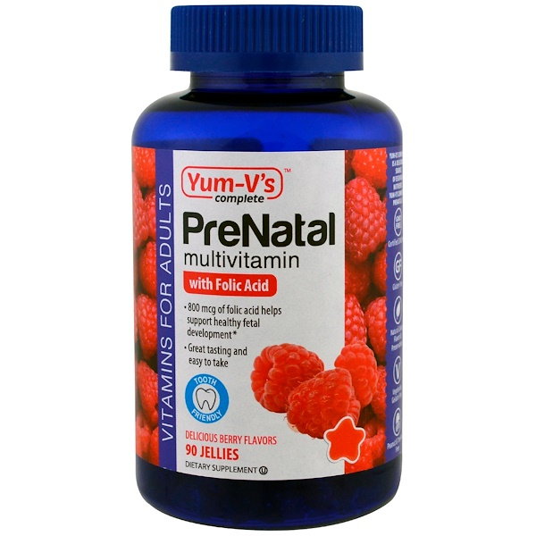 PreNatal Multivitamin with Folic Acid, Berry Flavors, 90 Jellies