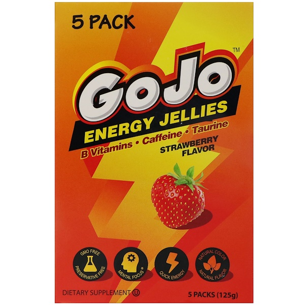 Yum-V's, GoJo Energy Jellies, Strawberry Flavor , 5 Packs (125 g) (Discontinued Item)
