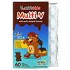 YumV's, 종합 미네랄 포뮬라 함유 멀티 V, 밀크 초콜릿, 곰 젤리 60개