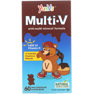 Yum-V's, Multi V with Multi-Mineral Formula, Milk Chocolate Flavor, 60 Bears