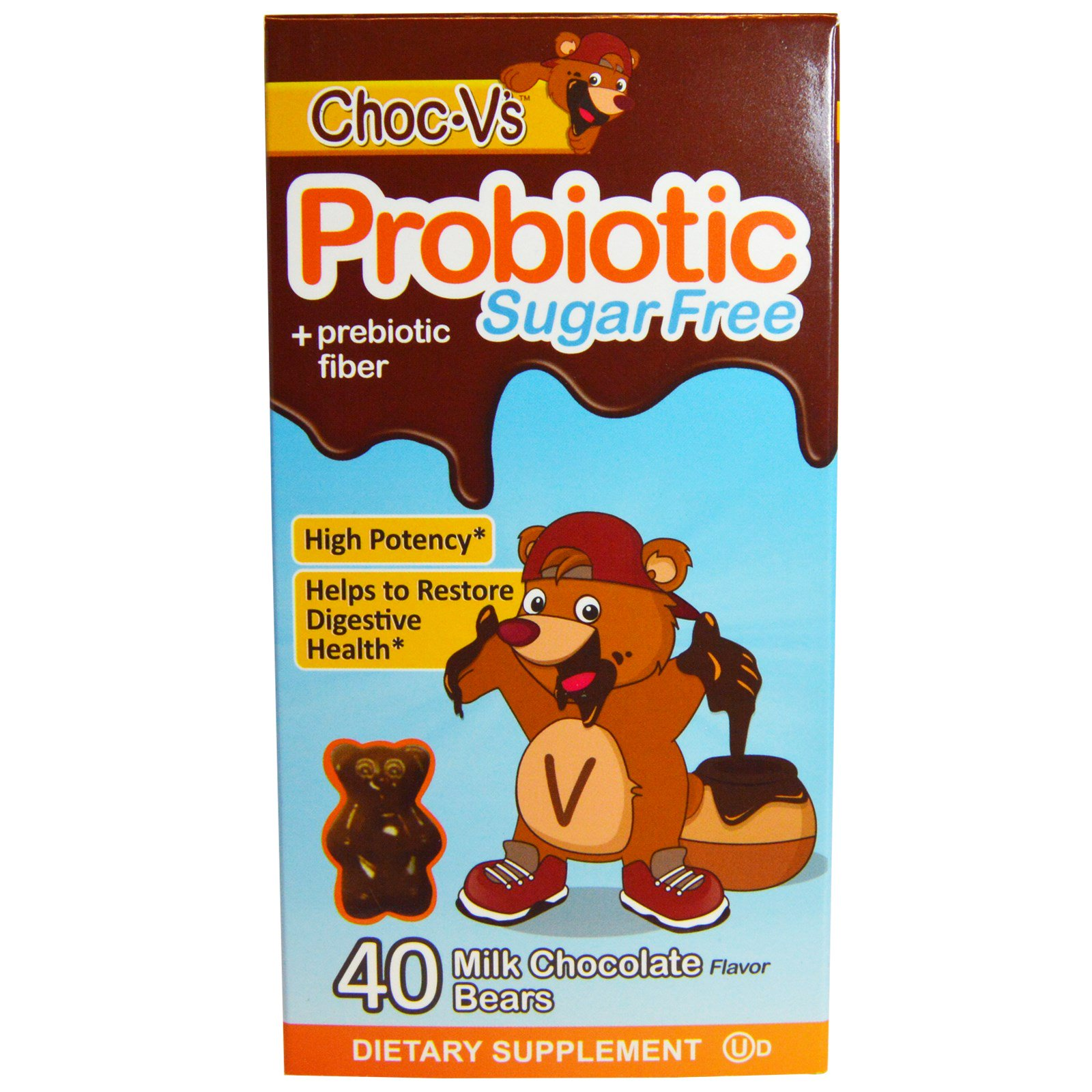 Yum-V's, Probiotic, 1.5 billion microflora