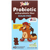 YumV's, Probiotic with Prebiotic Fiber, Milk Chocolate, Sugar-Free, 40 Bears