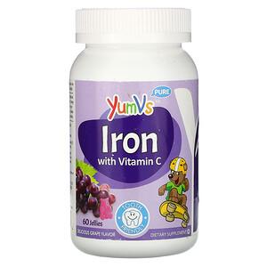 Ям Вис, Pure, Iron with Vitamin C, Grape, 60 Jellies отзывы
