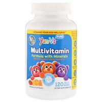 Мультивитаминная формула с минералами, фруктовый вкус, 120 желатиновых медвежат - фото