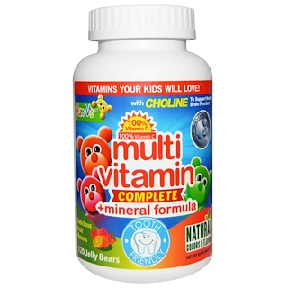 Yum-V's, Multi Vitamin Complete + Mineral Formula, Delicious Fruit Flavors, 120 Jelly Bears