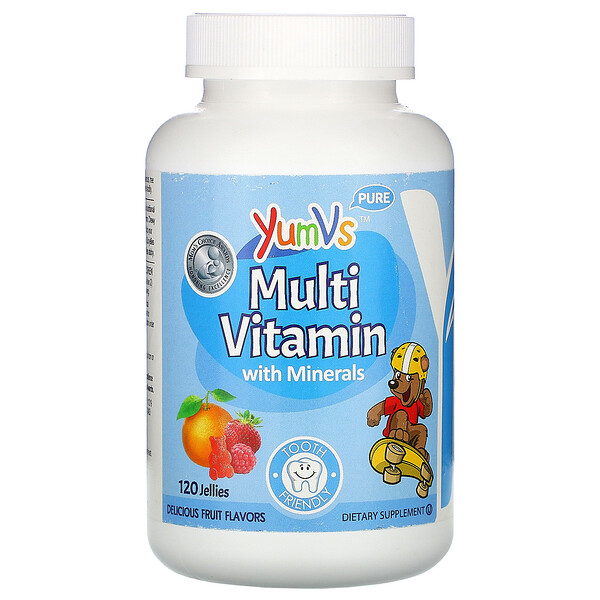 Multi Vitamin with Minerals, Delicious Fruit Flavors, 120 Jellies