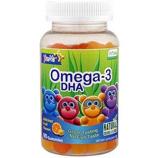 Yum-V's, Omega-3 DHA, Mixed Fruit, 90 Gummies