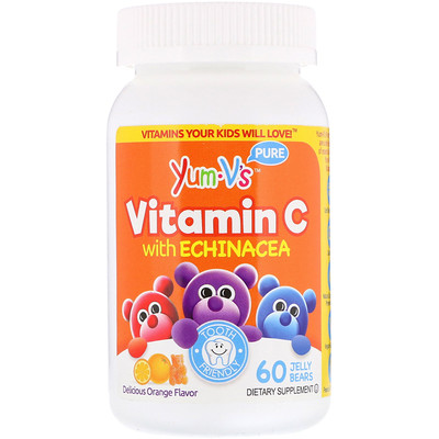 Vitamin C with Echinacea, Delicious Orange Flavor, 60 Jelly Bears