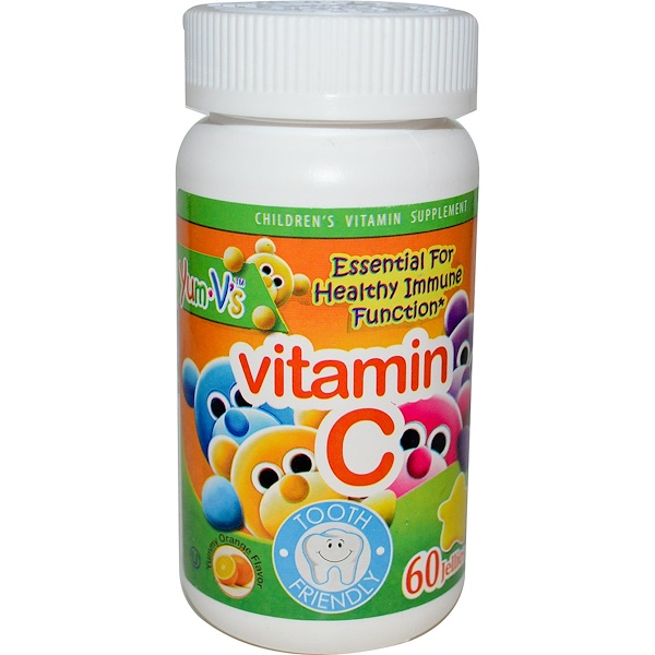 Yum-V's, Vitamin C, Yummy Orange Flavor, 60 Jellies