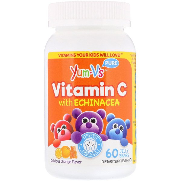 Vitamin C with Echinacea, Orange Flavor, 60 Jelly Bears