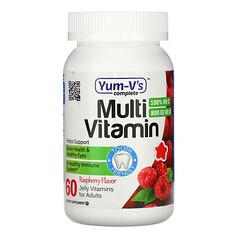 YumV's, 成年人複合維生素,覆盆子味,60 粒果凍維生素