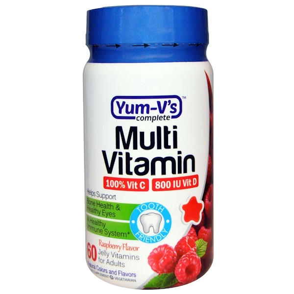 YumV's, Multi Vitamin, for Adults,Raspberry Flavor, 60 Jelly Vitamins