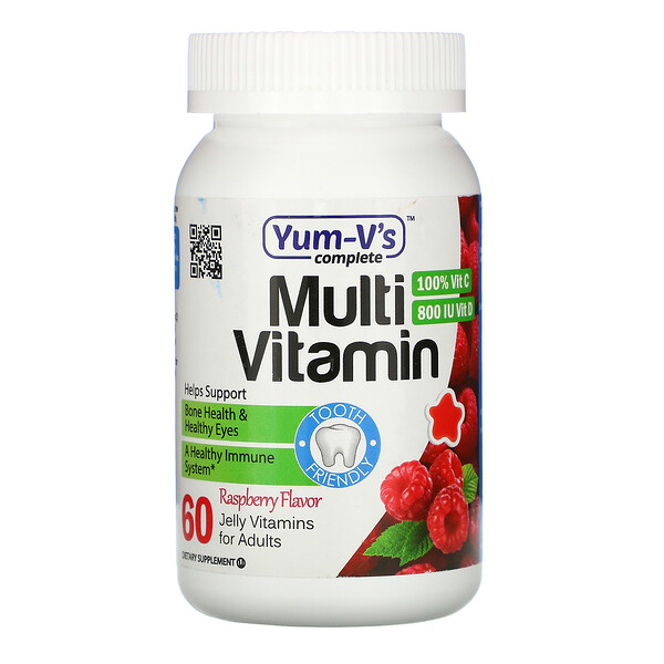 YumV's, Multi Vitamin for Adults, Raspberry Flavor, 60 Jelly Vitamins