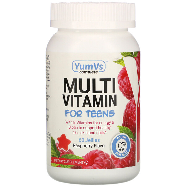 YumV's, Multi Vitamin for Teens, Raspberry Flavor, 60 Jellies