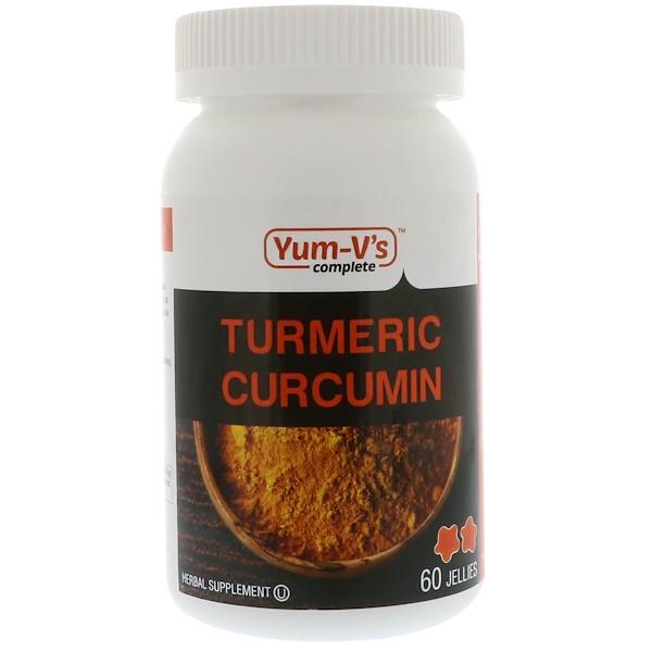 Yum-V's, Turmeric Curcumin, 60 Jellies