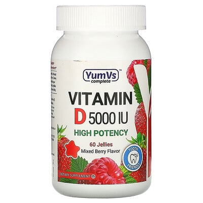 YumV's Vitamin D, Mixed Berry Flavor, 5, 000 IU, 60 Jellies  - Купить