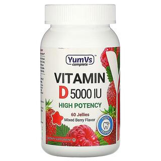 YumV's, Vitamin D, Mixed Berry Flavor, 5,000 IU, 60 Jellies