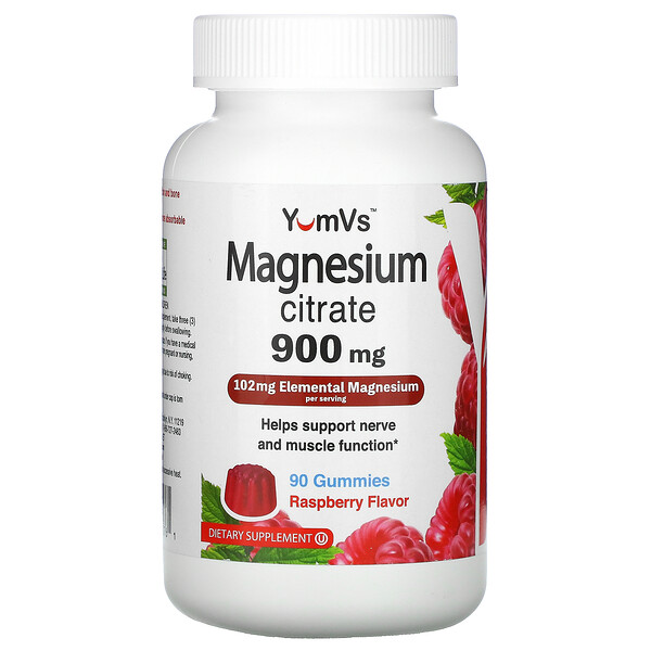YumV's, Magnesium Citrate, Raspberry , 900 mg, 90 Gummies