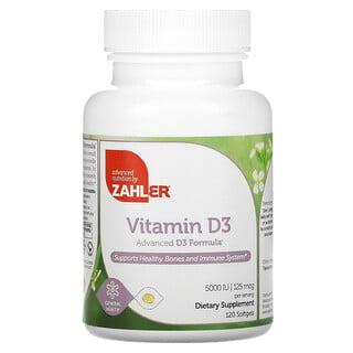 Zahler, Vitamin D3, Advanced D3 Formula, 125 mcg (5,000 IU), 120 Softgels