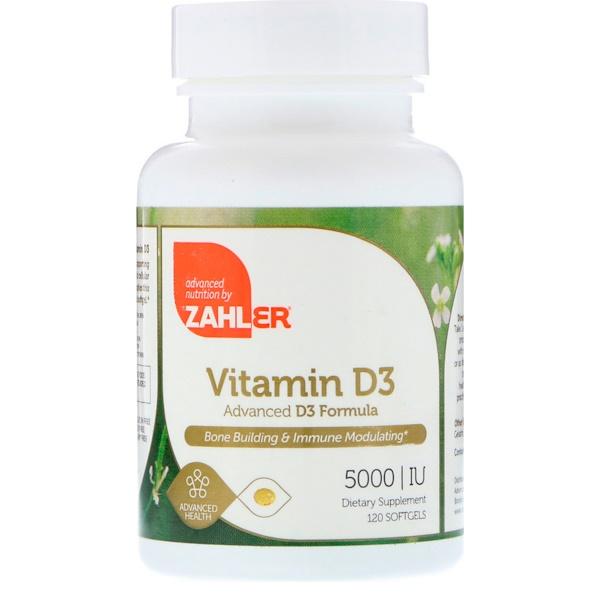 Zahler, Vitamin D3, Advanced D3 Formula, 5,000 IU, 120 Softgels