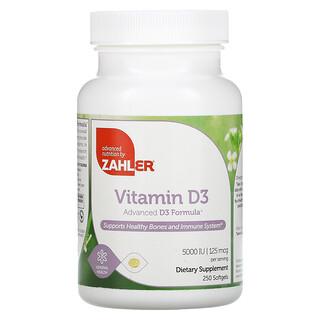 Zahler, Vitamin D3, Advanced D3 Formula, 5,000 IU, 250 Softgels