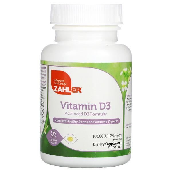 Vitamin D3, Advanced D3 Formula, 250 mcg (10,000 IU), 120 Softgels