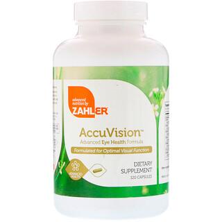Zahler, AccuVision, Fórmula Avançada para a Saúde dos Olhos, 120 Cápsulas