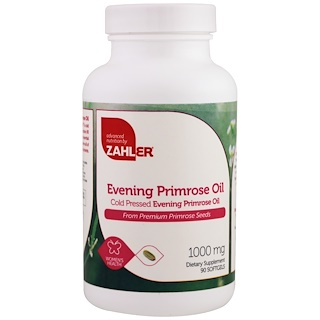 Zahler, Evening Primrose Oil, 1000 mg, 90 Softgels