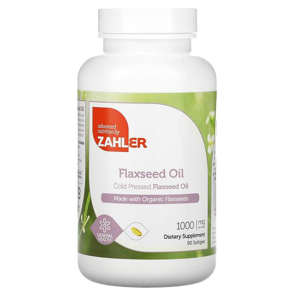 Flaxseed Oil, 1,000 mg, 90 Softgels