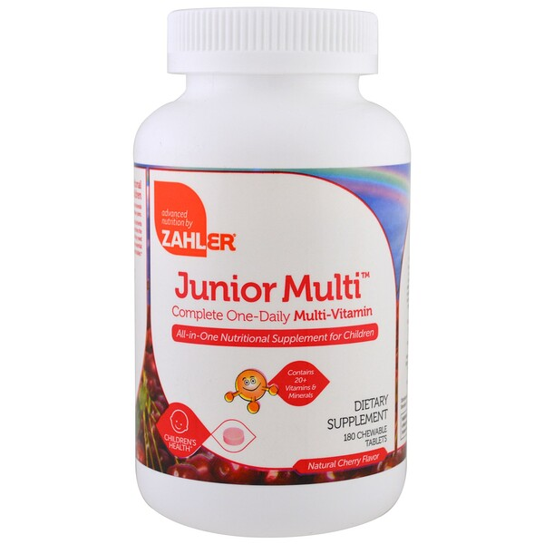 Junior Multi, Complete One-Daily Multi-Vitamin, Natural Cherry Flavor, 180 Chewable Tablets